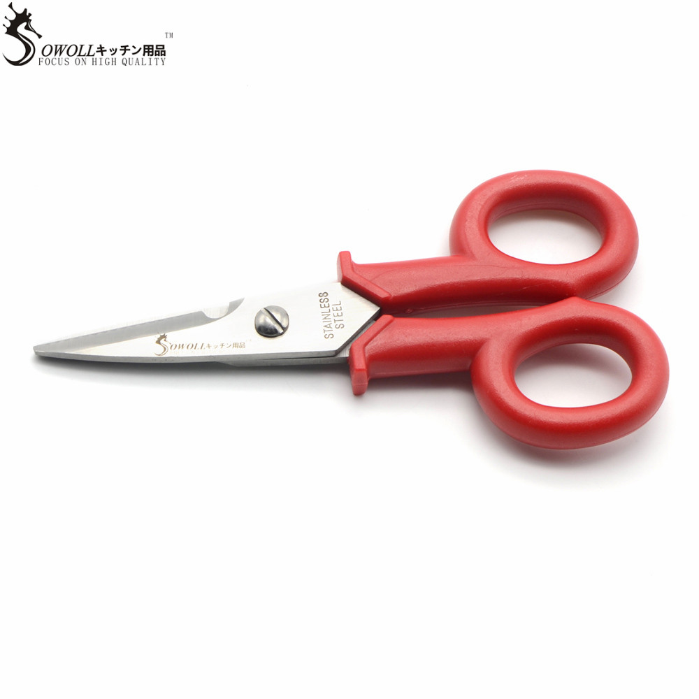 sowoll brand 1 piece handmade kitchen electrician scissors plastic