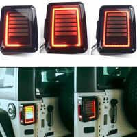 07 16 для Jeep Wrangler светодиодные задние фонари заднего тормозной обратного Лампы для мотоциклов для сахара, свобода Rubicon 2007 2016 светодиодные стоп