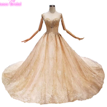 Luxury Crystals Girl Debutante 15 Years Dress Vestidos Para 15 Anos Sweet 16 Birthday Ball Gowns Champagne Quinceanera Dresses