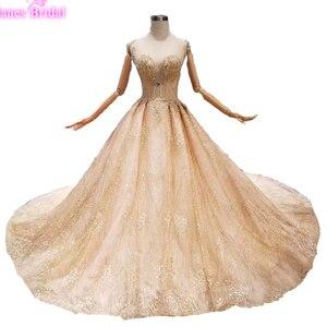 Image 1 - 럭셔리 크리스탈 소녀 debutante 15 년 드레스 vestidos 파라 15 anos 달콤한 16 생일 공 가운 샴페인 quinceanera 드레스