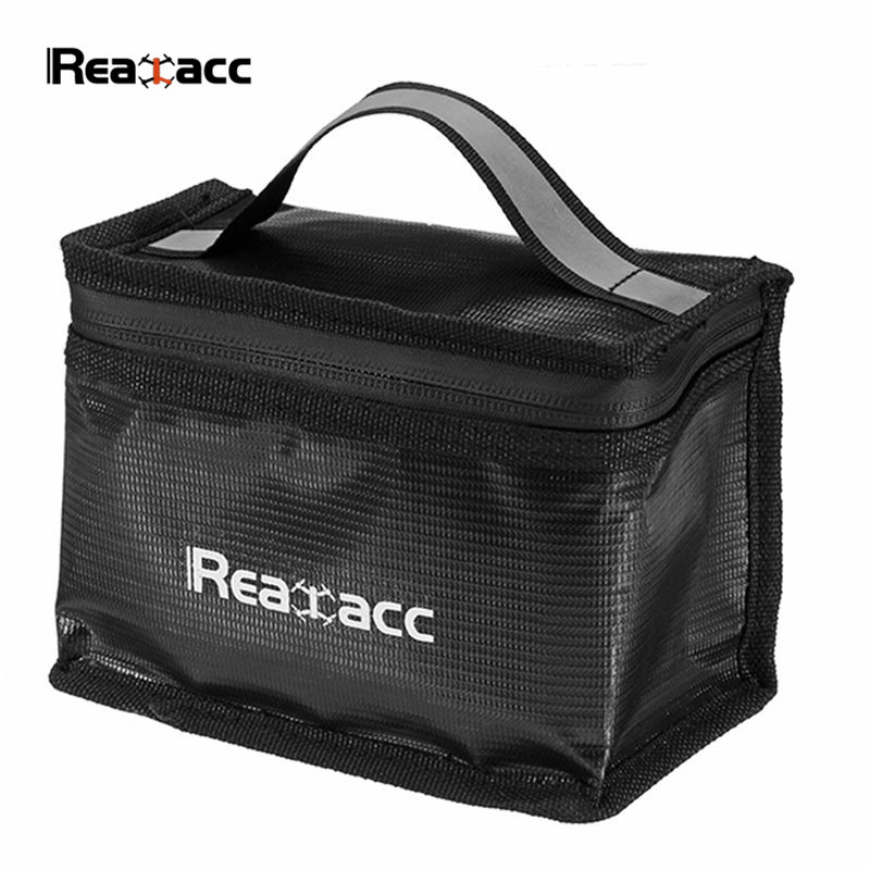 Upgraded Realacc Fireproof LiPo Battery Safety Bag 215x155x115mm With Luminous H