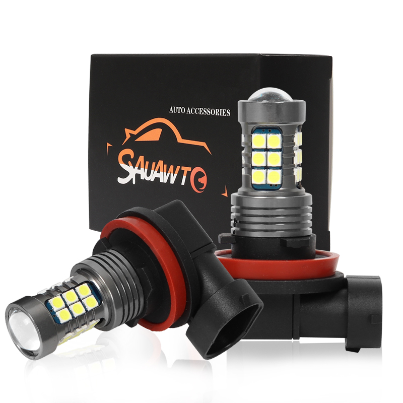 2Pcs H8 H11 LED Fog Light Bulb Auto Car Driving Drl Lamp LED Bulbs Day For