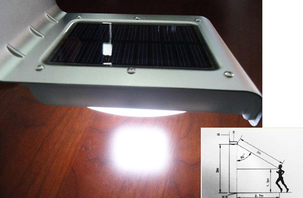 Licht En Bewegingssensor : 16 leds solar licht buitenverlichting ip65 waterdicht