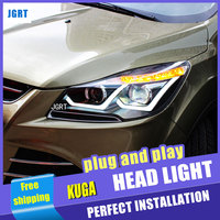 car styling For FORD KUGA headlight assembly 2013 2015 For Escape bi xenon lens h7 xenon