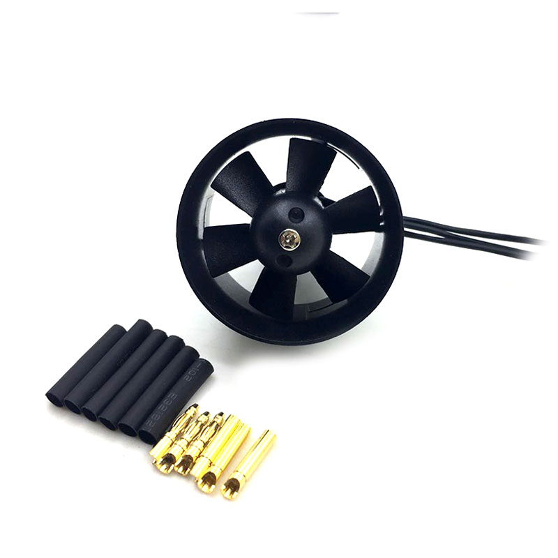купить QX-Motor 30mm 6 Blades Ducted Fan EDF QF1611 5000KV Brushless Motor For DIY RC Airplanes Model Parts по цене 1256.83 рублей