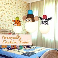 Novelty children's light model Cartoon animal Giraffe lovely lamps for children rooms Child ceiling light for kid room