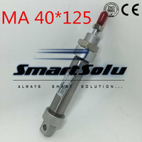 Free Shipping Airtac Type Mini Cylinder 40MM Bore 125MM Stroke 1 8 Port Pneumatic Stainless Steel