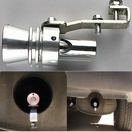 Tamaño S Universal Coche Turbo Silbato De Sonido Silenciador De Tubo De Escape Soplado Vale Bov Simulador