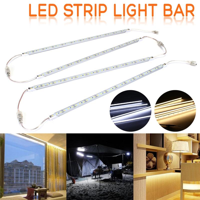 Smuxi 4 X 50CM LED Hard Strip Light Bar 5630SMD Waterproof 36 LED Rigid Strip Light Cabinet Lamp + Remote Control DC12V