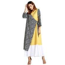 Muslim Fashion Female Ethnic Style Leopard Print Long Sleeve Party Long  Maxi Dress women long dress evening elegant 28274f68fd3d