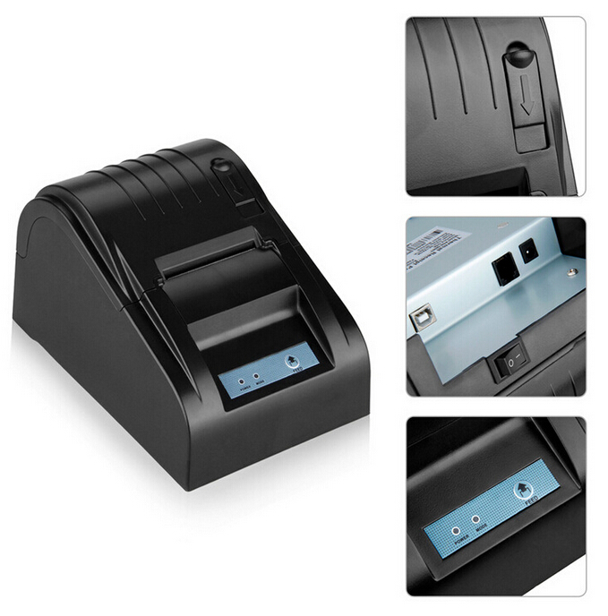 ФОТО Free Shipping!58mm Thermal Printer 58mm Thermal Receipt Printer 58mm USB POS Printer for restaurant and supermarket