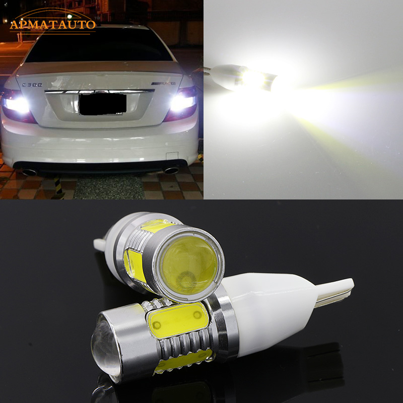 2 x T15 W16W No Error Plasma LED Projector Blub Tail Backup Reverse Rear Lights For Mercedes Benz ML320 ML350 ML400 GLK350