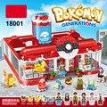 18001 Pokemon Go Pikachu Generations Medical Center Building Blocks Model Bokemon minis Bricks Toys for children lepin