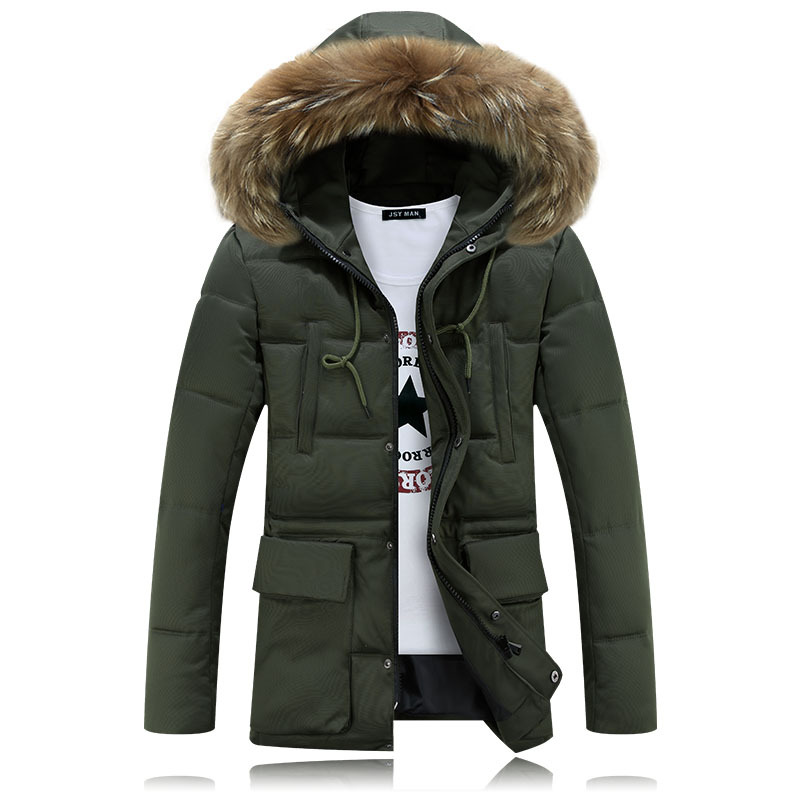 Winter Brand Mens Clothing Zipper Fur Hooded Jacket Casual Thicken Warm Parka Male Cotton Padded Coat Men M-4XL F16-135E winter jacket men warm coat mens casual hooded cotton jackets brand new handsome outwear padded parka plus size xxxl y1105 142f