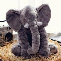 60cm Height Large Plush Elephant Doll Toy Soft Kids Sleeping Back Cushion Cute Stuffed Elephant Baby