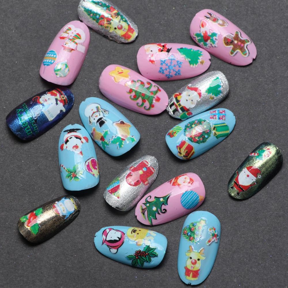 3 pcs air decal nail stiker natal natal kartun desain nail sticker