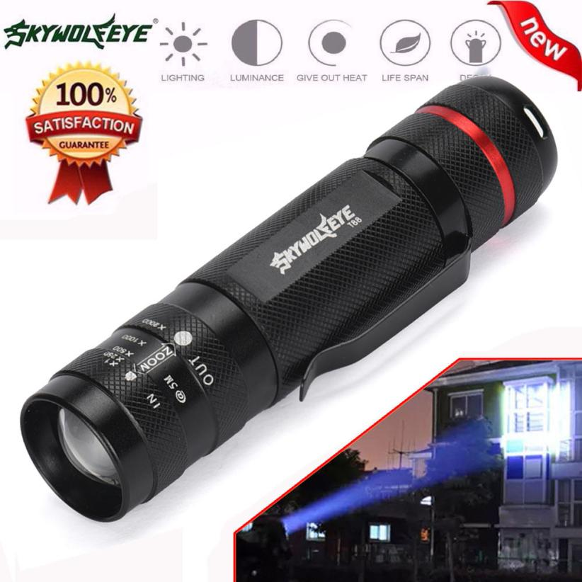 DC 27 Shining Hot Selling Fast Shipping   3000LM Zoomable CREE XM-L T6 LED 18650 Flashlight Torch Super Bright Light hot selling zoomable focus 3000lm cree xm l t6 led 18650 26650 aaa flashlight torch