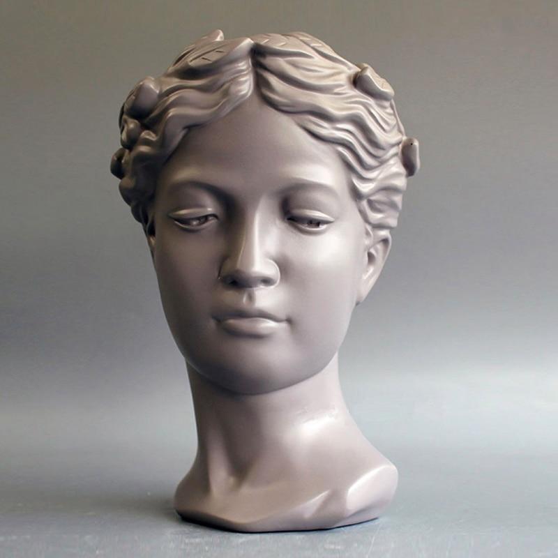 Muses déesse Pot de fleur Musae résine Statue moderne décoration maison ornements créatif Table décor