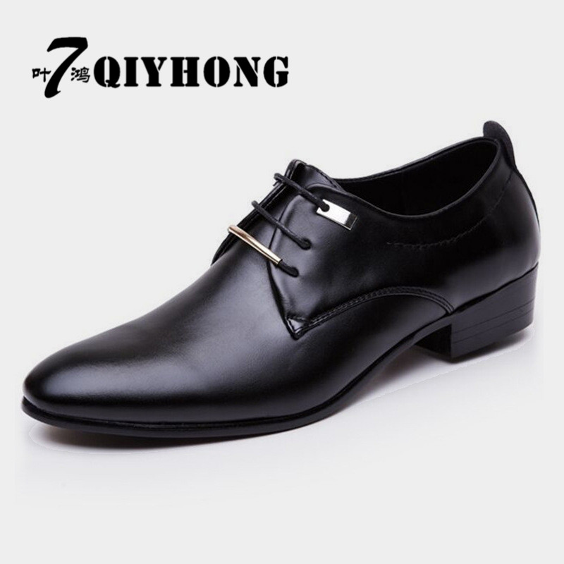 Dedicated Qiyhong 2017 Leather Casual Men Shoes Fashion Men Flats Round Toe Comfortable Office Men Dress Shoes Plus Size 38-48 At All Costs Men's Shoes
