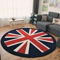 Nostalgische England dicke maschine gewebt nacht teppich  Britischen stil runde form die Union Jack wohnzimmer teppich