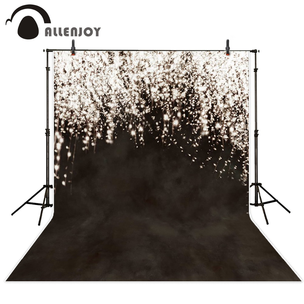 Allenjoy backgrounds for photography studio wedding brown dim star fireworks Backdrop professional photocall Highlights