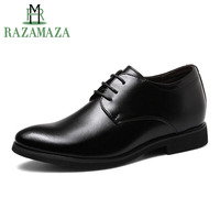 ZALAVOR Men'S Oxford Shoes Leather Shoes Lace Up Office Dress Shoes Business Style Chunky Heels Footwear Size 37 44