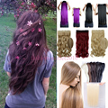 """Long Clip in Hair Extension half full head 100% As real natural hair Extentions 24"""" Curly US Local Warehhouse Fast Ship T923"""