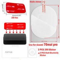 Für 70 mai Pro Dash Cam Smart Auto DVR 3M Film und Statische Aufkleber, geeignet für 70 mai Pro Auto DVR 3M film halter 3 stücke