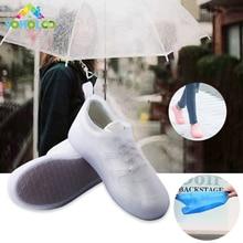 Бахилы дождь многоразовые Водонепроницаемый протектор дождь сапоги для Для женщин мужские туфли пинетки дождь для дождя ботинки чехол для хранения обуви крышка