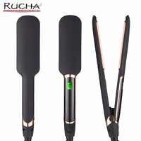 RUCHA 赤外線ストレートヘアアイロンサロングレード 450F プロセラミックトルマリンプレート MCH 30 39s 高速加熱フラット鉄