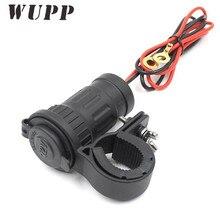 WUPP Waterproof Cigarette Lighter Socket Dc 12V 300W Motorcycle Handlebar Mount Universal Power