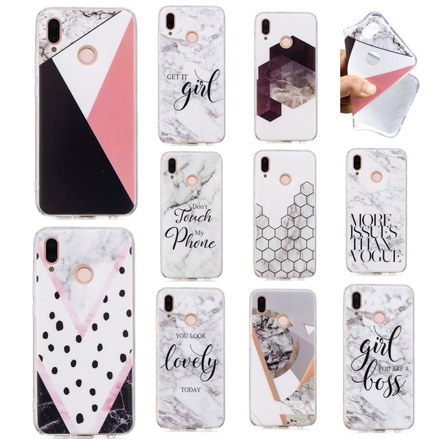 online store 06b59 83f2a US $1.39  Aliexpress.com : Buy For Huawei P20 lite Case Silicone Soft TPU  Back Cover For Fundas Huawei P20 Case Marble Girl Love Word Coque P 20 lite  ...