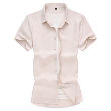 Shirts Mode Männer Leinen