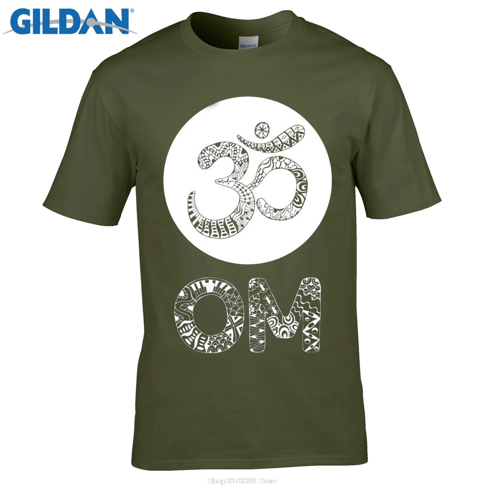 Design t shirt gildan - Gildan Designer T Shirt Streetwear Tees Yogaer Aum Om Ohm India Symbol Burnout Racerback T