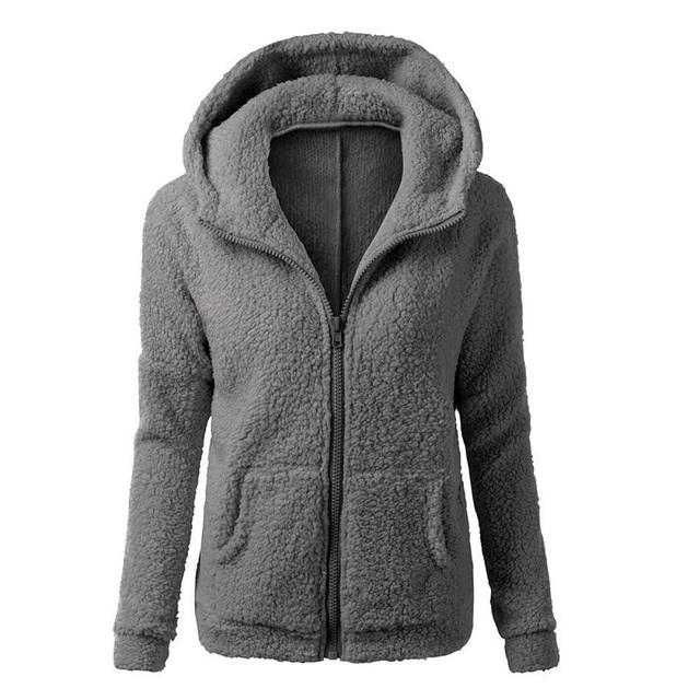 Moletom com capuz mulheres de inverno engrossar casaco de lã quente longo casaco de moletom com capuz zip-up hoodies outerwear jaqueta 4 cores com bolso dm #6