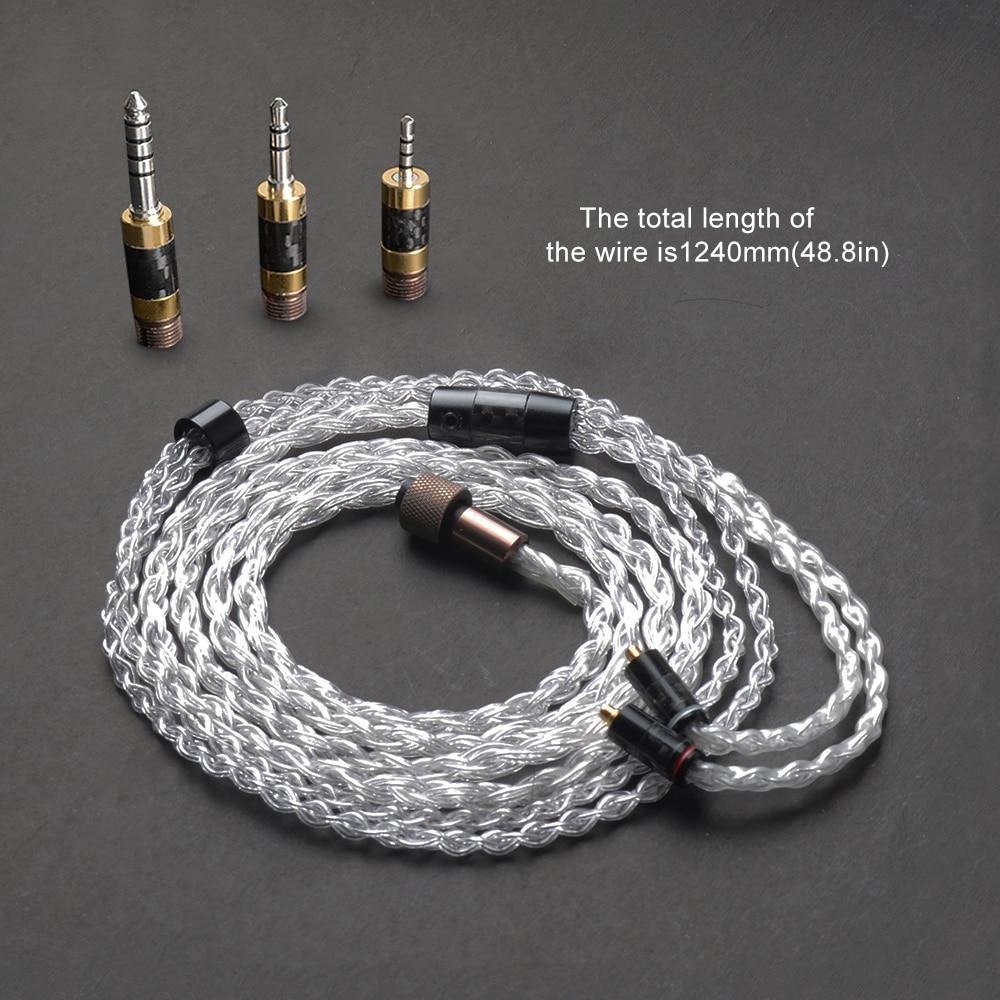 OKCSC multifonction l'impressionnant adaptateur de prise HiFi câbles Kit ensembles 4.4mm/2.5mm Balance Jack 3.5mm stéréo écouteurs bricolage accessoires-in Écouteurs from Electronique    1