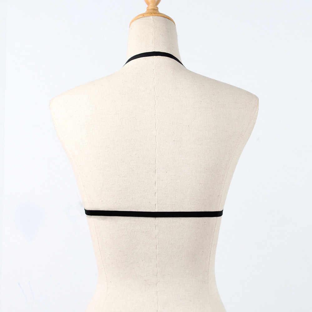 セクシーなブラジャー女性ランジェリーポルノホルターブラジャープラスサイズ弾性ブラジャー包帯のストラップセックス服 Ropa セクシーなストリッパーセックスブラジャー D3