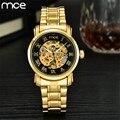 MCE Watch Men mechanical automatic Skeleton Watches for Men Steampunk Retro Full Steel Analog Wrist Watches Horloges Mannen 2017