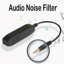 3.5mm AUX Audio Noise Filter Audio Anti-Jammer Earthing Loop Noise Isolator Eliminates Vehicle Current Noise