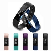 ID115 умный Браслет фитнес-трекер часы Шагомер, Счетчик умный Браслет Bluetooth Спорт сна монитор трек для телефона