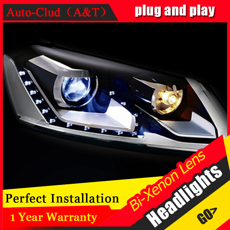 Auto Clud 2012-2014 For vw passat b7 headlights Europe LED light DRL H7 xenon headlamps for vw passat bi xenon lens car styling набор автомобильных экранов trokot для vw passat b7 2010 2014 на передние двери tr0408 01