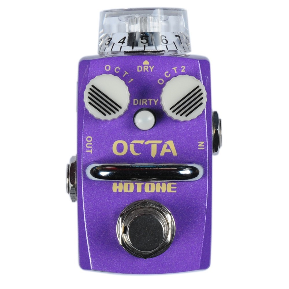 Hotone Octa Octave Effect Pedal DIRTY and POLY Octave Modes Digital Electric Guitar and Bass Effects Stompbox True Bypass down and dirty