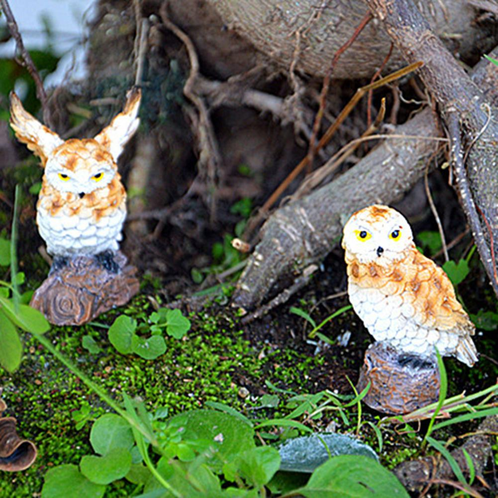 Lovely Resin Plants Owl Cute Micro Landscape Succulent Ornaments Plant Decoration Garden Miniatures DIY Statues Quick Delivery