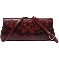 Genuine Leather Vintage Embossing Women's Clutch Wallet Bag Wristlet Celebrity Evening Bags Purse Coin Holder Shoulder Handbag