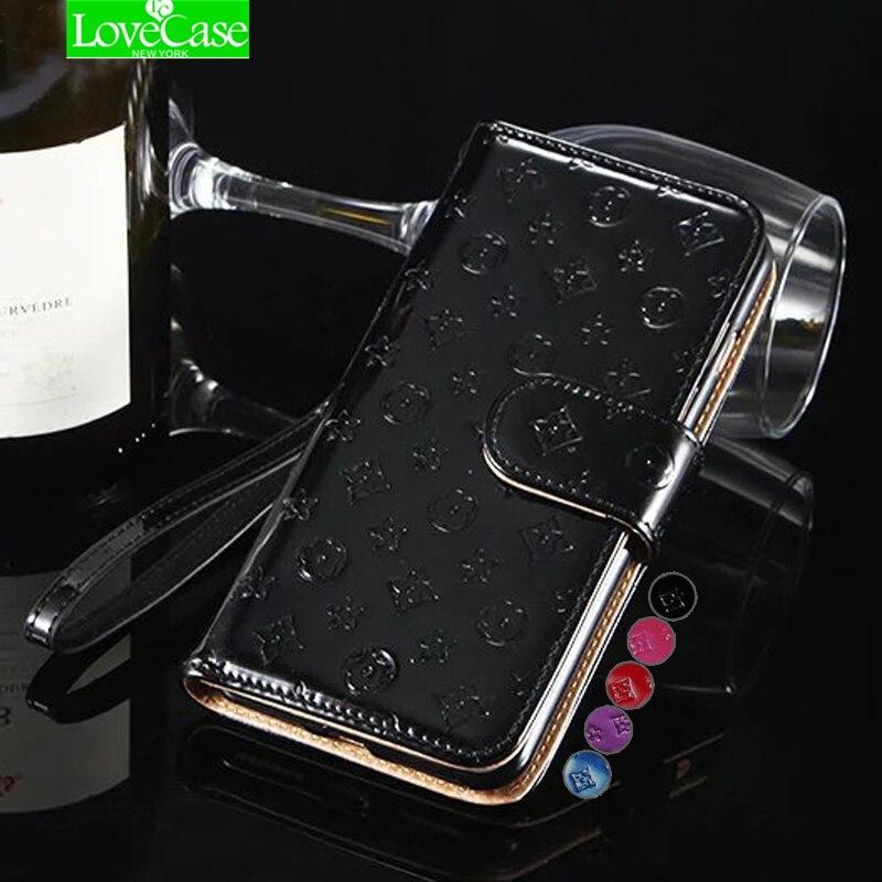 I7 7 plus Lumineux Surface Portefeuille En Cuir Cas pour Apple iPhone 7 Plus 7 Plus Flip en cuir verni de mode téléphone sac folio cas de couverture