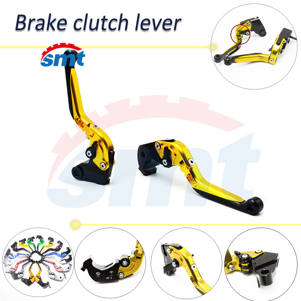 ФОТО high quality motorcycle cnc aluminum brake lever xj6 foldable brake clutch levers golden color For HONDA X4 all have 8 colors