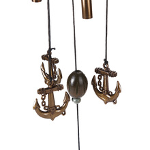 Metal Bells with Anchor Pendant for Home Decor