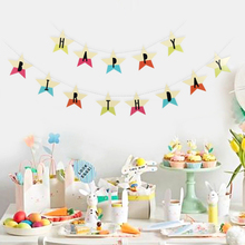 Cartoon Star Happy Birthday Banner Rainbow Baby Girl Boy Garland 1st Birthday Party Decorations Kids Adult Summer Decor