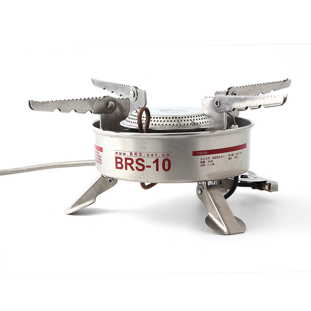 BRS 10 Camping Stove Gas Stove Outdoor Cooker Picnic Cookout Stainless  Steel Split Type