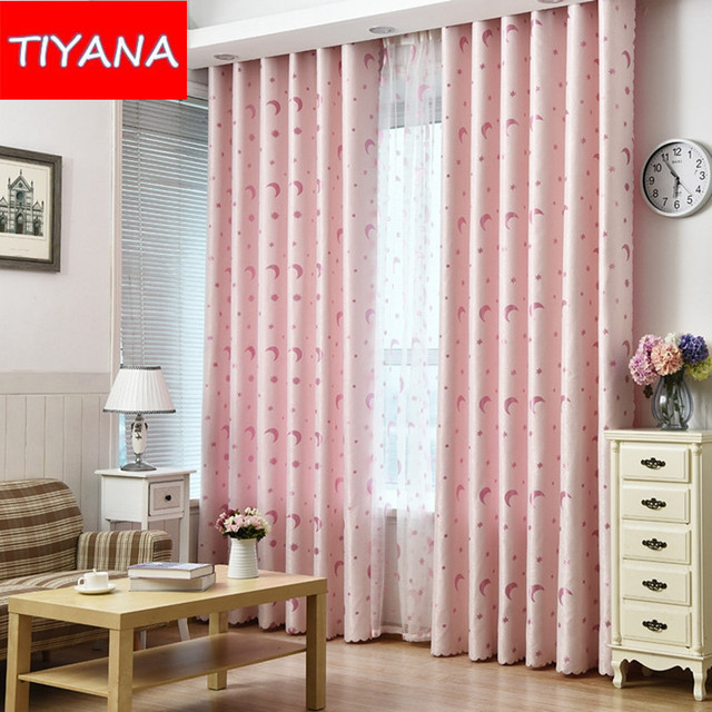 Eco Friendly Curtains For Kids Room Moon And Star Curtains For Boys Girls  Bedroom Blinds